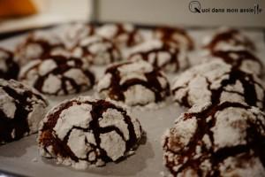 Crinkles chocolat biscuit gâteau recette