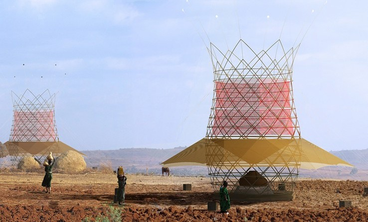 Warka Tower collecteur humidite eau desert 2