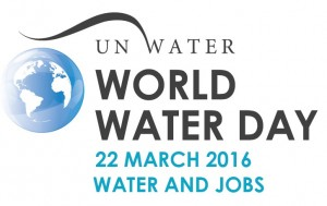 world water day journee de l'eau mondiale logo