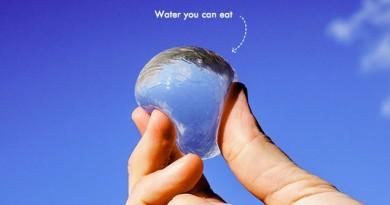 edible water bottle ooho! eau portable 2