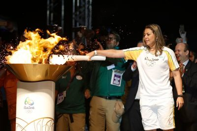jeux olympiques relais flamme Bresil Rio de janeiro