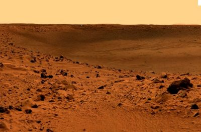 cratere bonneville mars surface