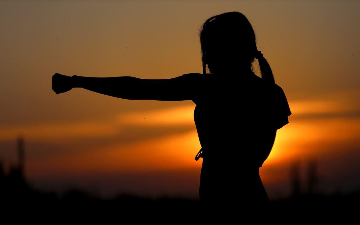 silhouette coucher soleil