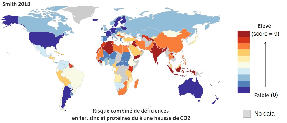 deficiences nutritionnelles changement climatiques carte monde