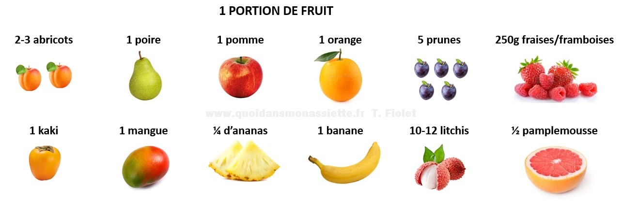 portion fruit taille 1 une