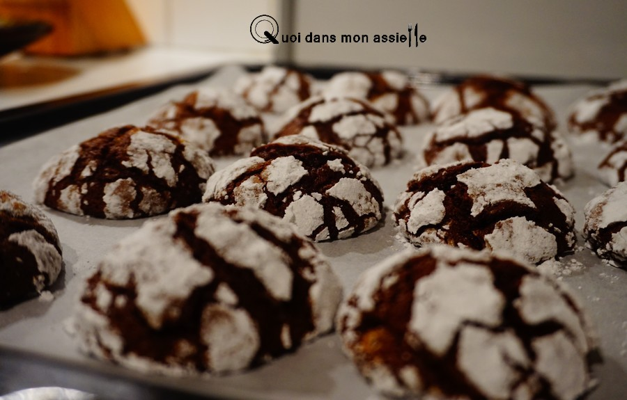 Crinkles chocolat biscuit gâteau recettes