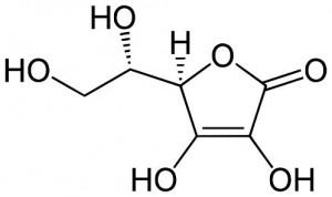 Molecule vitamine C acide ascorbique