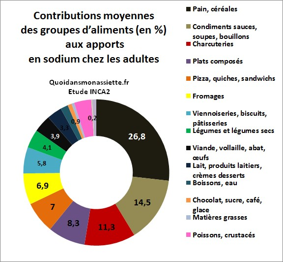 Source de sel sodium aliments