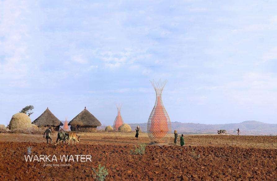 Warka Tower collecteur humidité eau desert 2