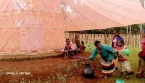 collecte eau desert warka tower