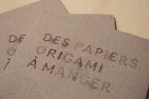 papier origami comestible edible