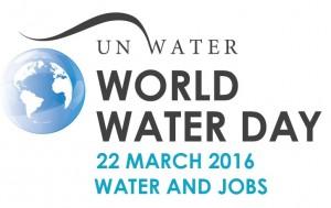 world water day journee de l'eau mondiale logo