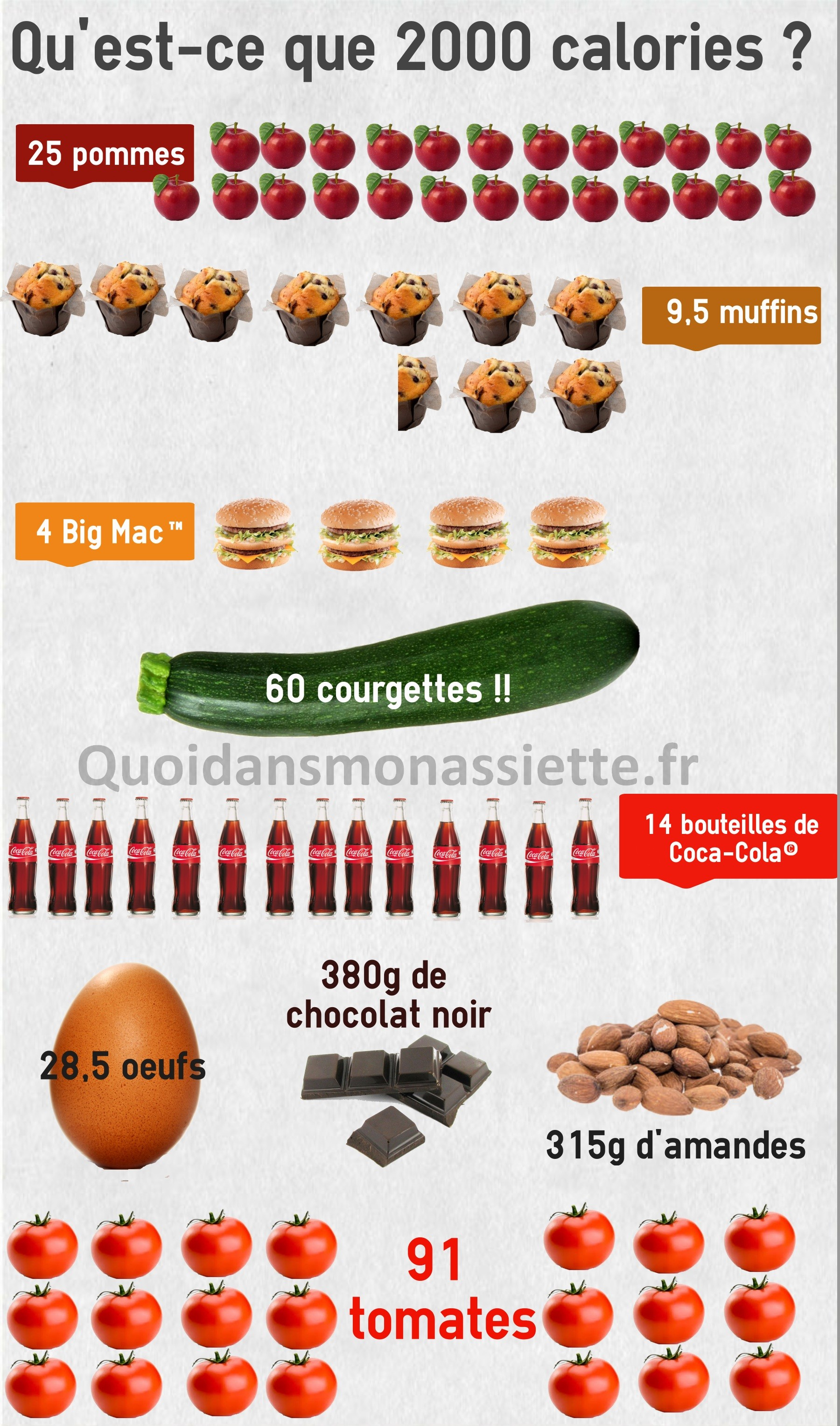 Manger 2000 calories kcal regime energie apports