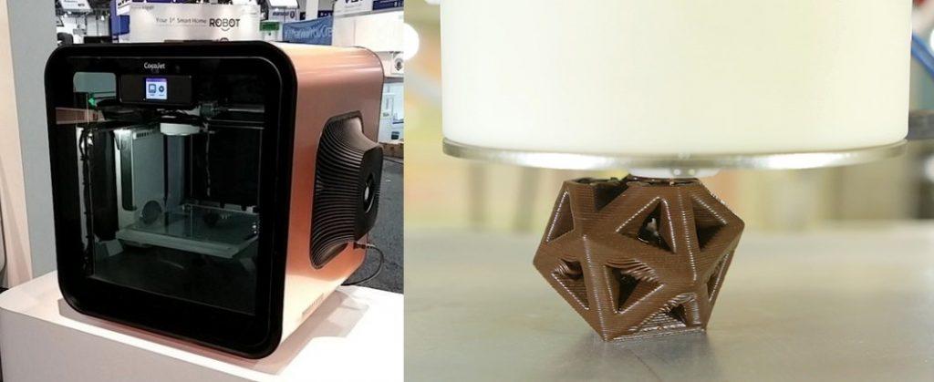 Cocojet 3D printer imprimante alimentaire chocolat