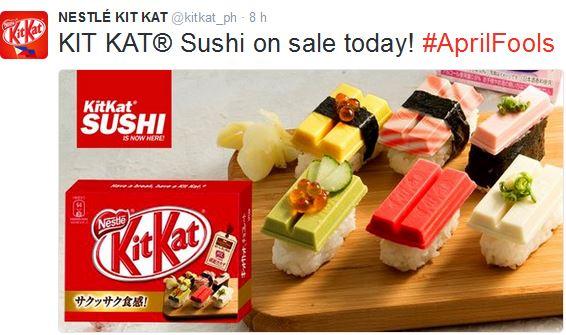 Kitkat sushi 2016 poisson d'avril aprilfool