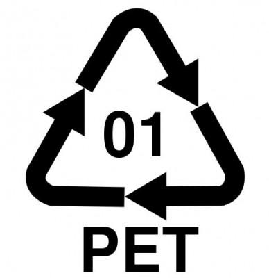 Polyéthylène Terephtalate PET logo symbole
