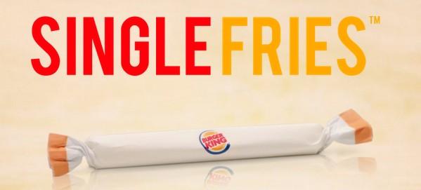 Single Fried Burger King Poisson d'avril april fool