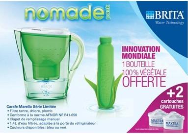 brita carafe bouteille 100% biodegradable
