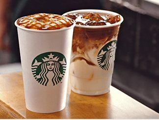 cafe starbuck latte topping chocolat sucre