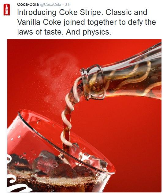 coke stripe vanilla april fool poisson d'avril 2016