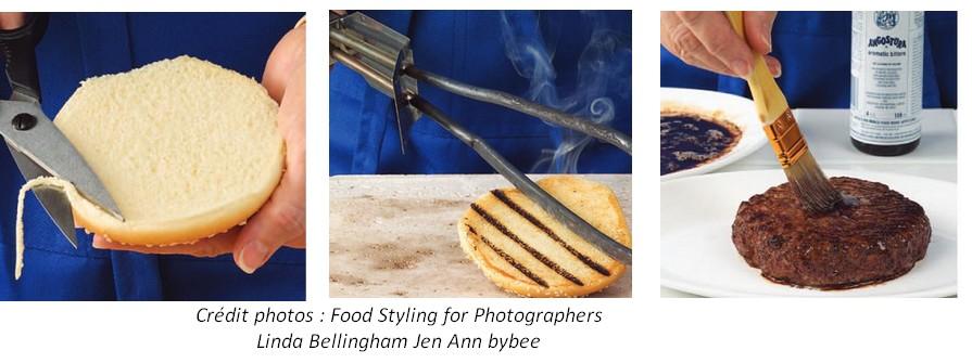 fabrication photo hamburger publicite realite marketing