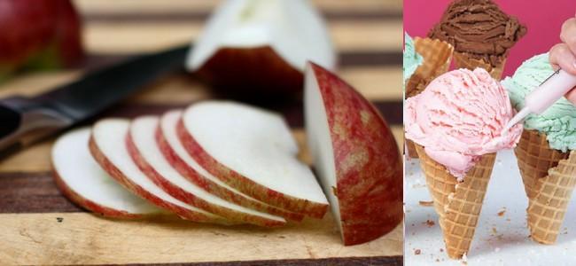 pomme coupée pas brunissement