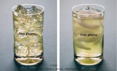verre glaçon fake ice