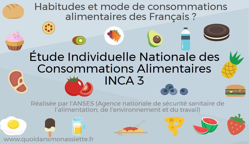 Étude INCA 3 : Que mangent les Français chaque jour?