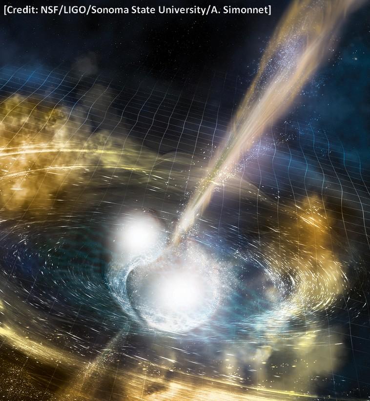 Collision étoiles à neutron star LIGO