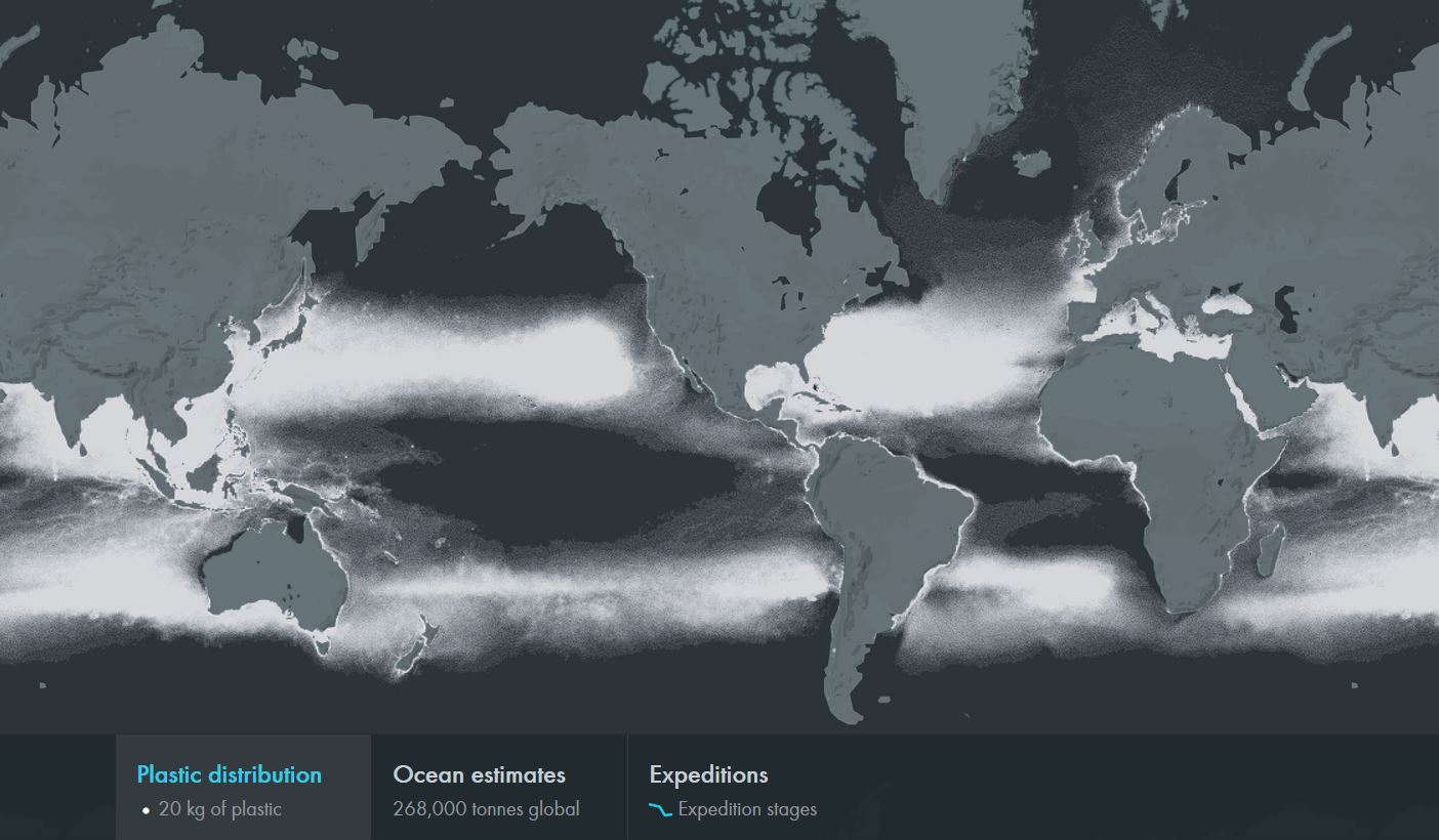 map world plastiques microplastic oceans quantites