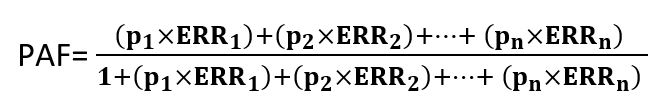 formule fraction de risque attribuable