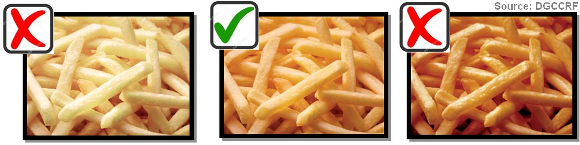 Acrylamide cuisson frites exemples images couleur