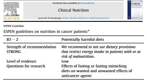 ESPEN guideline nutrition cancer