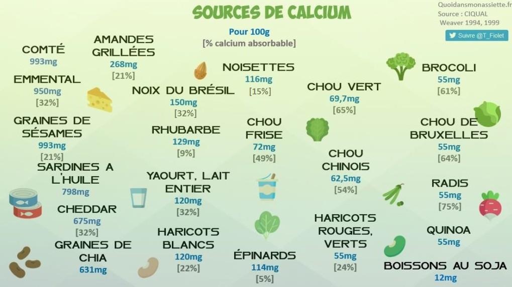 Quels aliments riches en calcium ? Quelle biodisponibilité dans les  légumes, les fruits à coque et les produits laitiers ? - Quoi dans mon  assiette