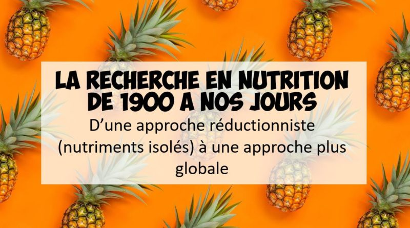 recherche en nutrition